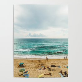 People Having Fun On Beach, Algarve Lagos Portugal, Tourists In Summer Vacation, Wall Art Poster Poster