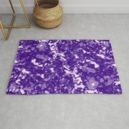 A fluttering cluster of violet bodies on a light background. Rug