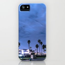 Nighttime in a beach town iPhone Case
