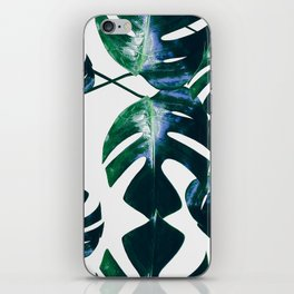 Monstera pattern iPhone Skin