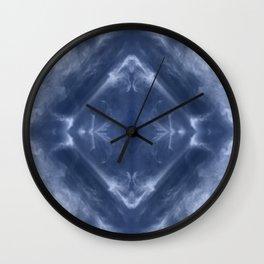 Indigo Diamond Wall Clock