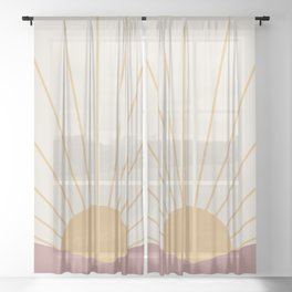 Morning Light - Pink Sheer Curtain