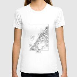 Dubai White Map T-shirt