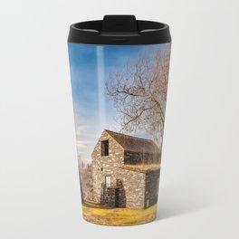 Welsh Quarry Buildings Travel Mug