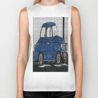 cuba Biker Tanks featuring Cuba Car by Sartoris ART