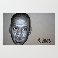 jay z Area & Throw Rugs featuring JAY-Z by Jahwan by JAHWAN