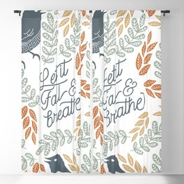Let Fall and Breathe Blackout Curtain