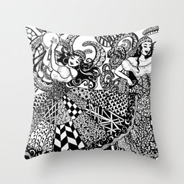 Traveler Dancers Throw Pillow