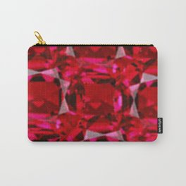 RUBY RED JULY GEM BIRTHSTONE  ART Carry-All Pouch