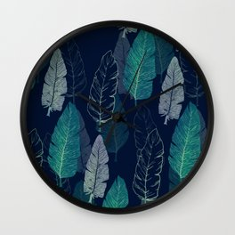 Feathers Pattern IV Wall Clock