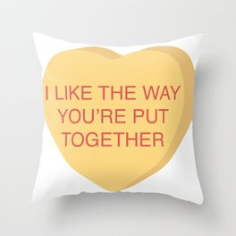 Champ Kind Conversation Heart Throw Pillow
