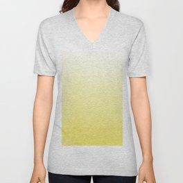 Modern hand painted yellow watercolor ombre pattern Unisex V-Neck