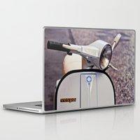 vespa Laptop & iPad Skins featuring vespa by Mar Fernandez