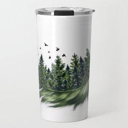 Earth Feather • Green Feather (horizontal) Travel Mug