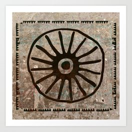 Simbologia Tribal 1 (Islas Canarias) Art Print