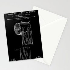 Toilet Paper Roll Patent - Black Stationery Cards