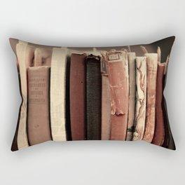 Old Books (brown) Rectangular Pillow