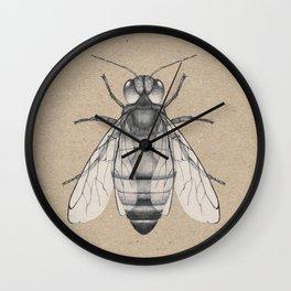 Bee pencil drawing Wall Clock