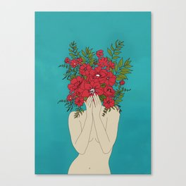 Blooming Red Canvas Print