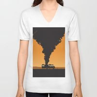 cooking V-neck T-shirts featuring Cooking by Jonathan Hogan