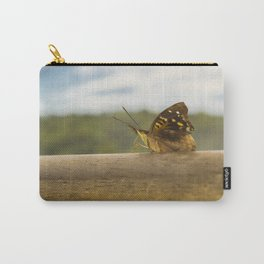 Butterfly against Blur Background at Iguazu Park Carry-All Pouch