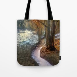 Late Wintrous Brook Tote Bag