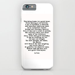 The Guest House 2 #poem #inspirational iPhone Case