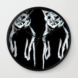 Krang Ghost Cats Black Hoodie Print Wall Clock