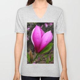 Spring Magnolia Unisex V-Neck