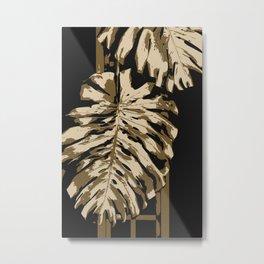 Two leafs illustration. Metal Print