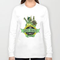 lotr Long Sleeve T-shirts featuring LOTR - The Green Dragon Inn - Bywater by Immortalized