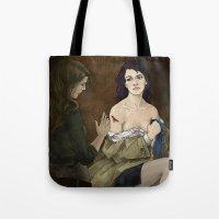 destiel Tote Bags featuring Destiel. Cassy and Deana by Armellin