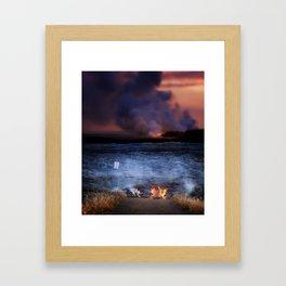 Kilauea Volcano Lava Flow. Framed Art Print