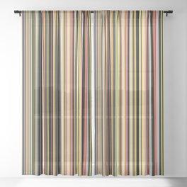 Old Skool Stripes - The Dark Side Sheer Curtain