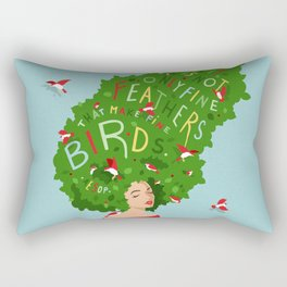 Bird Lady Rectangular Pillow