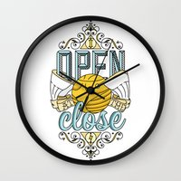 snape Wall Clocks featuring Harry Potter – I Open At The Close by Aaron Sales