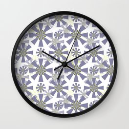 Abstract floral, geometric pattern.2 Wall Clock