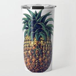 Ornate Pineapple (Colored) Travel Mug
