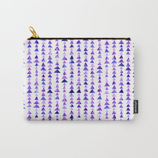 Purple Triangles Pattern 02 Carry-All Pouch