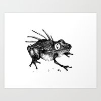 frog Art Prints featuring Frog. by Ben BASSO