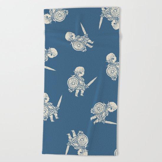 botw pattern Beach Towel