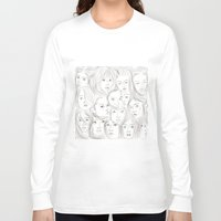 asian Long Sleeve T-shirts featuring Asian Girls by Maria Umiewska