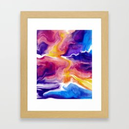 Vibrant Clouds Framed Art Print