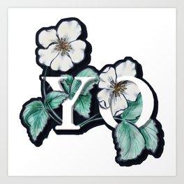 Yo Flowers Art Print