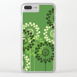 Retro Flowers Clear iPhone Case