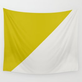 Ogre Yellow & Light Grey - oblique Wall Tapestry