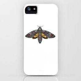 African Death's Head Hawkmoth (Acherontia atropos) iPhone Case