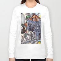 portugal Long Sleeve T-shirts featuring Buarcos, Portugal by Claire Nelson-Esch