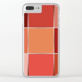 Squares , patchwork 6 Clear iPhone Case