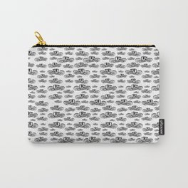 Sombrero Vueltiao in Black and White Ink Pattern Carry-All Pouch